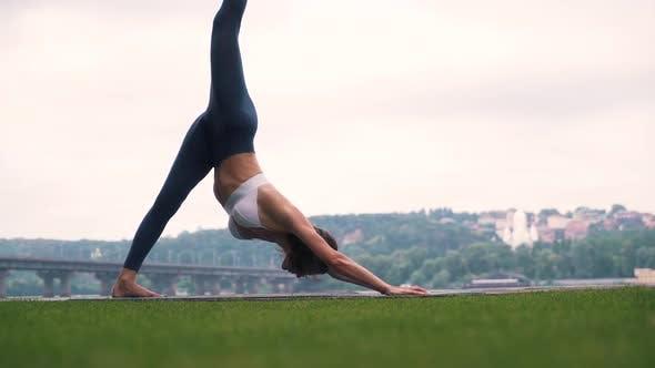Thumbnail for Girl Doing Body Exercises Outdoors