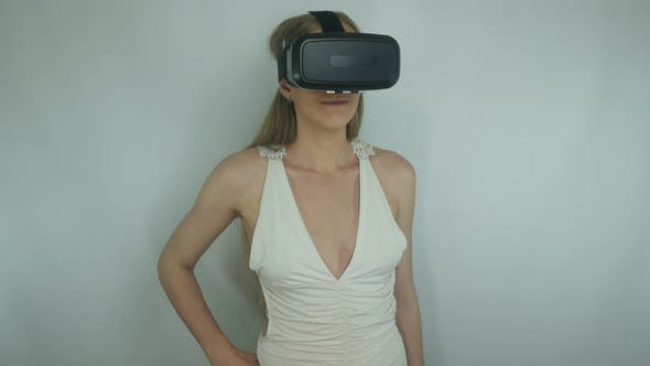 Thumbnail for Girl And Modern Technology Of Virtual Reality Helmets