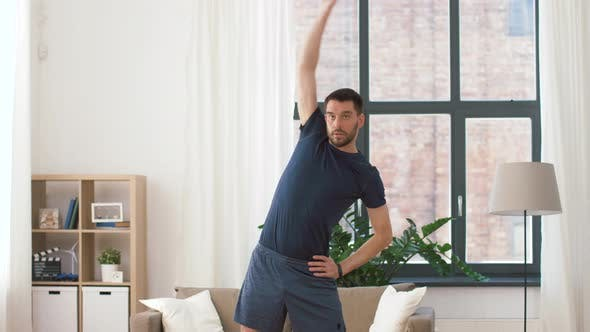 Thumbnail for Man Exercising and Leaning at Home 28