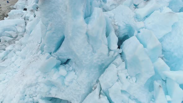 Thumbnail for Blue Nigardsbreen Glacier Is Arm of Jostedalsbreen Glacier in Norway. Ice Blocks. Aerial View