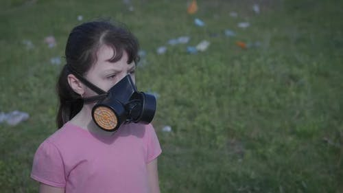 Breath By Polluted Landfill.