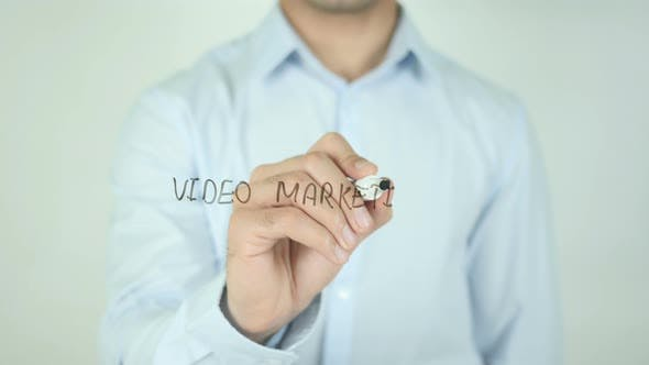 Thumbnail for Video Marketing, Writing On Transparent Screen