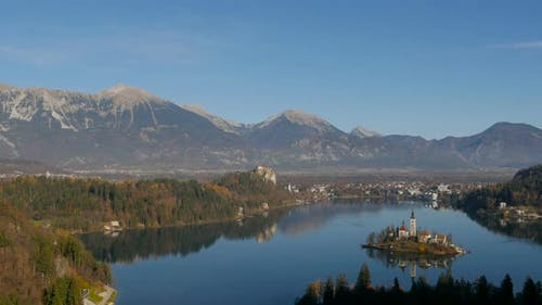 Panoramic view of Bled