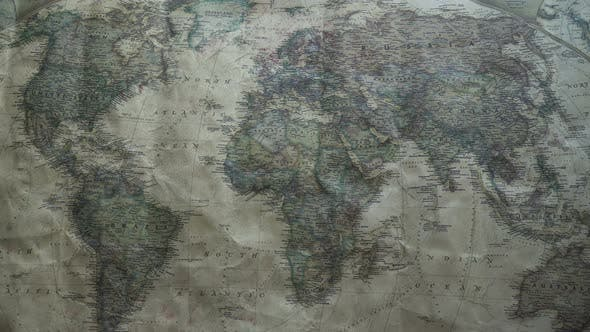 Thumbnail for Old Vintage Map Of The World