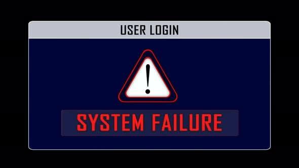 System Failure User Login Interface