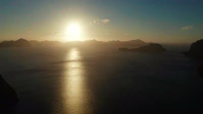The Beautiful Bay at Sunset