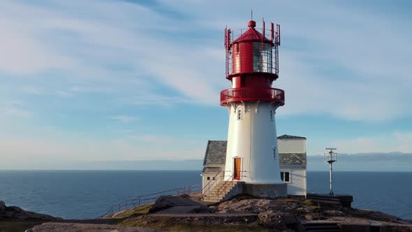 Thumbnail for Lindesnes Lighthouse Is a Coastal Lighthouse at the Southernmost Tip of Norway