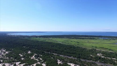 Aerial view of Route 27 in Montauk