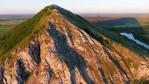 Single hill in the Republic of Bashkortostan, Russia.