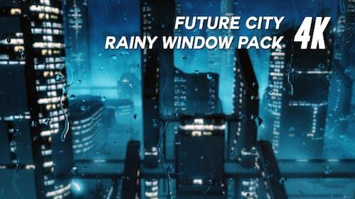 Future City Regenfenster Pack 4K