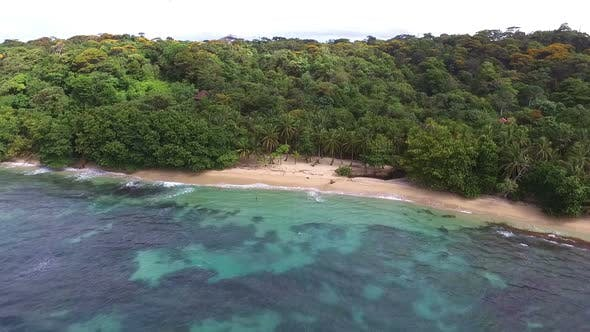 Virgin Unspoiled Caribbean Island Aerial View