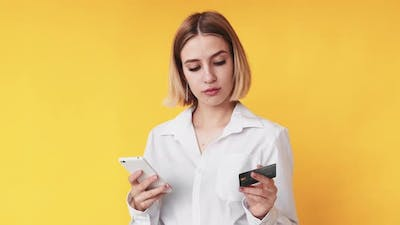 Internet Payment Online Shopping Woman Credit Card