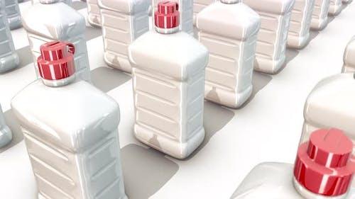 A Lot Of Lighter Fluid Bottles In A Row 4k