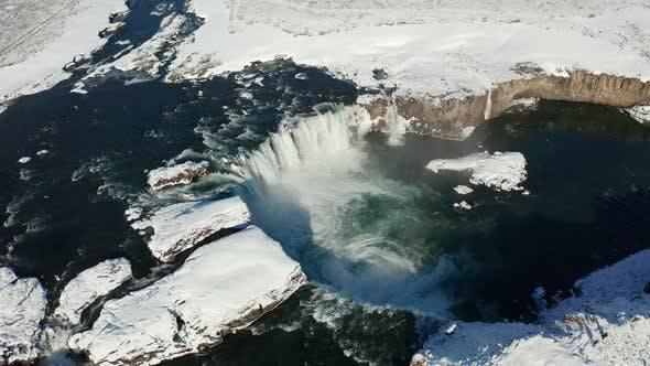 Thumbnail for Godafoss Waterfall on Skjalfandafljot River, Iceland