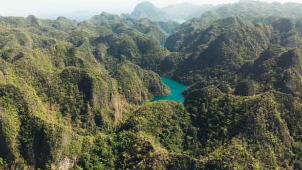 Thumbnail for Mountain Lake Kayangan on Tropical Island, Philippines, Coron, Palawan