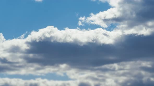 Thumbnail for Moving Clouds in Horizon in Summer Sunny Clean Blue Sky, Heaven Clouds Floating