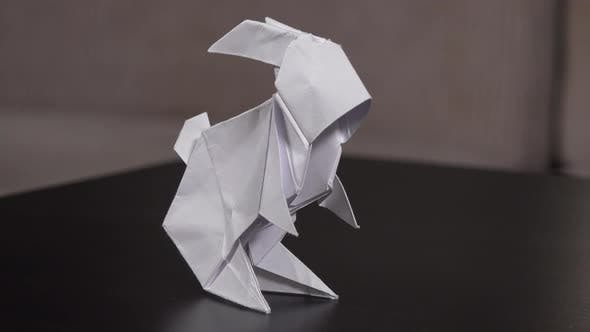 Thumbnail for Closeup on an Origami Rabbit on a Table
