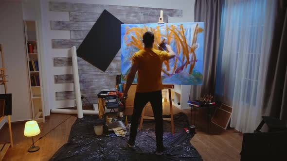 Thumbnail for Contemporary Artist in Studio