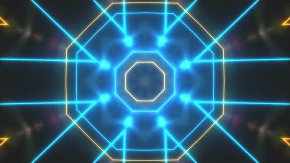 Thumbnail for Abstrakte Disco Licht Kaleidoskope Hintergrund