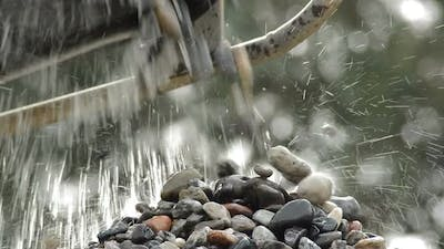Pebbles and Stones Falling