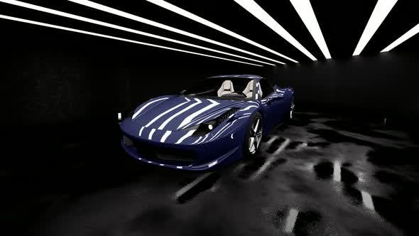 Thumbnail for Blue Luxury Sports Car