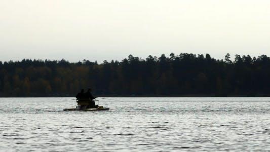 Fishermen On Catamaran