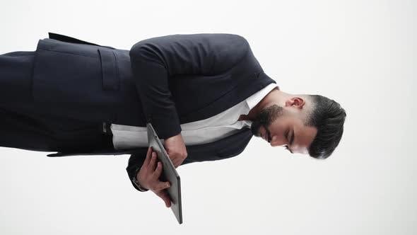 Office Work Busy Man Digital Life Task Involvement