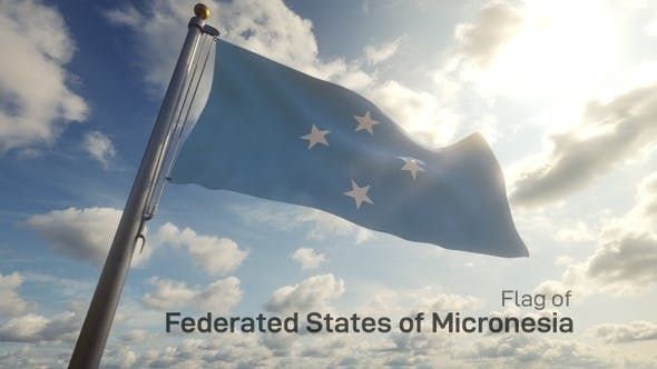 Thumbnail for Micronesia Flag on a Flagpole