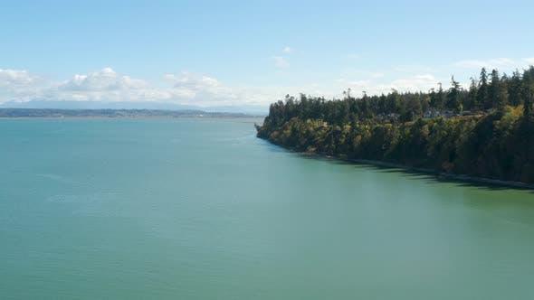 Forested Waterfront Property - Camano Island, Washington USA Waterfront Aerial