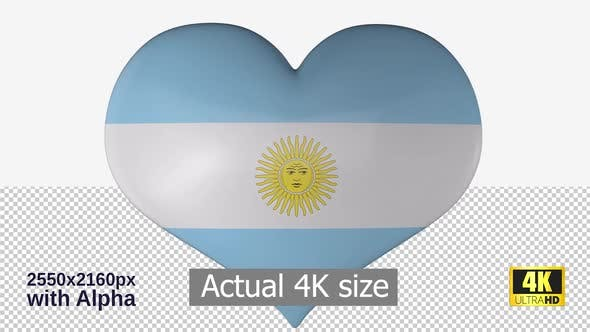 Thumbnail for Argentina Flag Heart Spinning