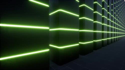 Ar Technology Data Center Digital Design Concept Augmented Reality Vr Software Green Led