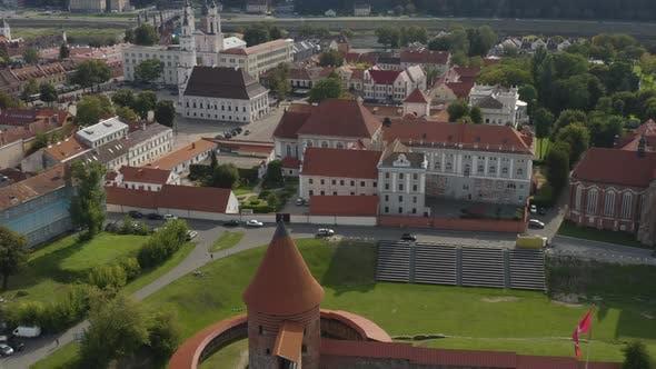 Kaunas City Lithuania Establishing Shot