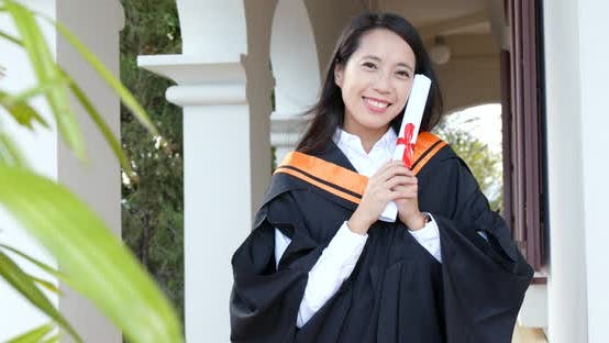 Thumbnail for Woman graduated from university