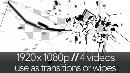 Thumbnail for Glass Screen Breaking - 4 Transitions & Wipes