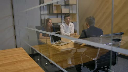 Young Manager Offering Important Profitable Contract to Married Couple