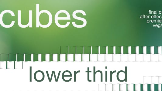 Thumbnail for Cubes - Lower Third