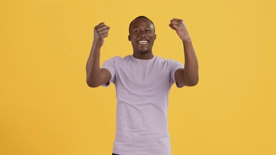 Thumbnail for Happy Black Guy Shouting YES, Celebrating Victory