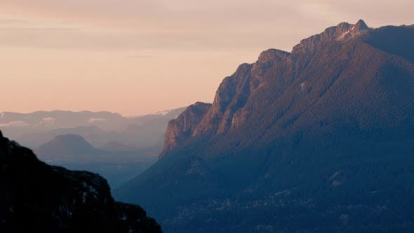 Thumbnail for Sunset View Of Mt Si In North Bend Washington