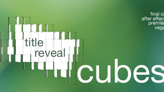 Thumbnail for Cubes - Title Reveal