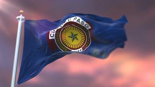 El Paso City Flag, United States