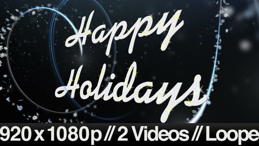 Thumbnail for Happy Holidays Greeting Under Snowy Night 2 Styles