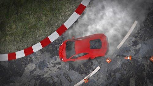 Supercar Dramatic Entrance And Drifting