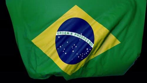 Brazil Unfolding Flag