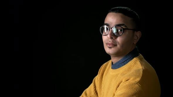 Thumbnail for Arab Man in Yellow Sweater