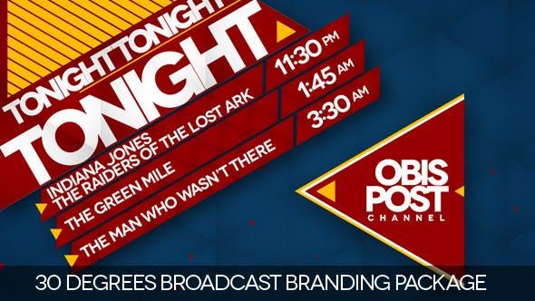 Thumbnail for 30 Degrees - Broadcast Branding Package