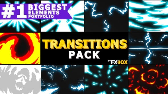 Thumbnail for Dynamic Handy Transitions | Motion Graphics Pack