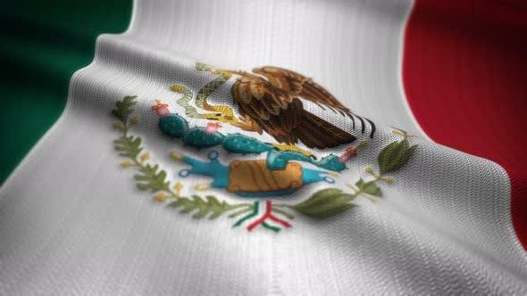 Mexico Flag Seamless Loop