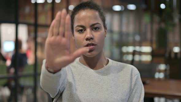 Thumbnail for Stop Gesture By African Woman, Disliking and Rejecting