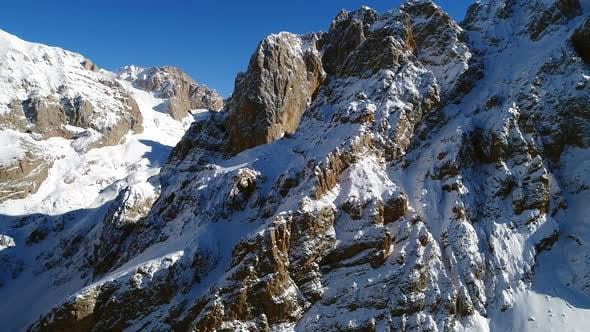 Thumbnail for Aerial View High Snowy Mountains