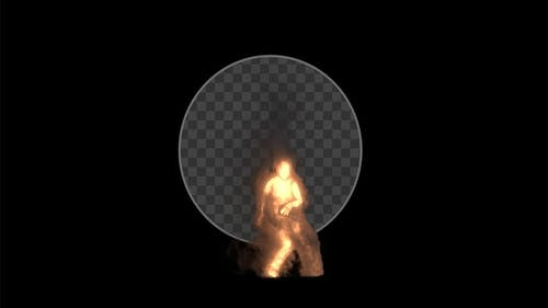 Dancing Fire Man - 3 Pack